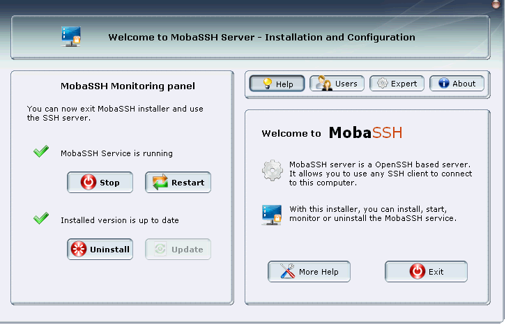 MobaSSH SSH server for Windows - Documentation